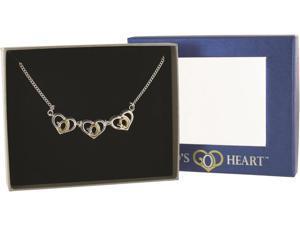 Triple Gods Heart Necklace Case Pack 24
