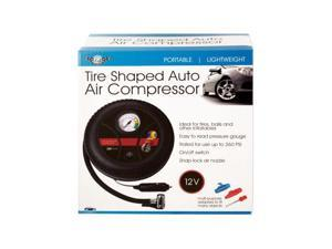 Portable Tire-Shaped Auto Air Compressor (Case Pack 1)