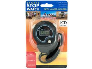 Sport Stopwatch with Neck Cord (Case Pack 5)