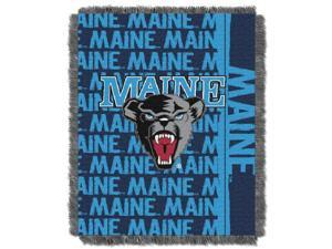 Maine College 48x60 Triple Woven Jacquard Throw - Double Play Series