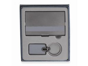 Lynnfield Card/Key Chain Gift Set - Engravable Personalized Gift Item