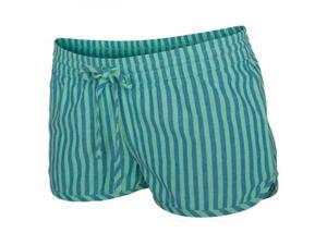 Hurley Women's Beachrider Woven Shorts Large Green Glow Stripe