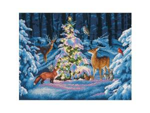 "Woodland Glow Counted Cross Stitch Kit-14""""X11"""" 14 Count"