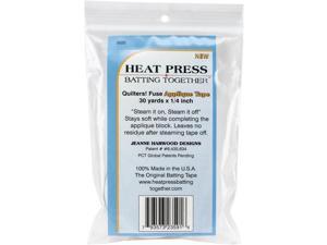 "Heat Press Batting Together Applique Tape - White-.25""""X30yd"