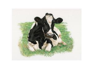 "Cow On Aida Counted Cross Stitch Kit-23.625""""X17.75"""" 16 Count"