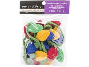 "Feltworks Christmas Lights Garland-2""""X60"""""