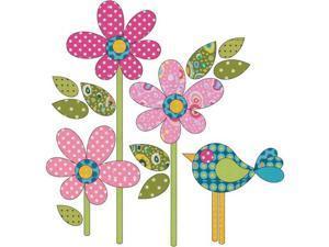 Urban Elementz Fusible Applique-Polka Dot Daisy - Small Pink