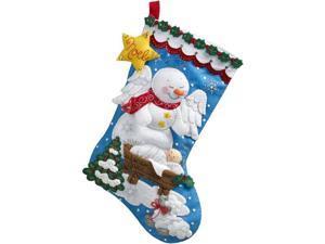 "Snow Angel Stocking Felt Applique Kit-18"""" Long"