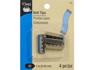 Metal Belt Tips 4/Pkg-Nickel