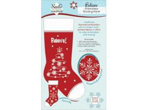 Christmas Stocking Panel For Embroidery-Believe!