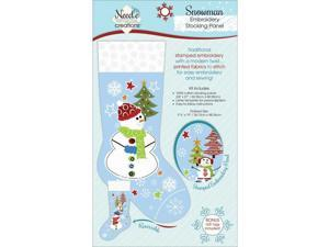 Christmas Stocking Panel For Embroidery-Snowman