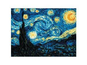 "Starry Night After Van Gogh's Painting Counted Cross Stitch -15.75""""X11.75"""" 14 Count"