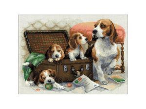 "Canine Family Counted Cross Stitch Kit-15.75""""X11.75"""" 14 Count"