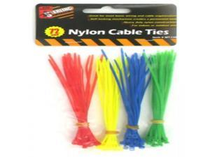 Nylon Cable Ties - Yellow, Green, Blue, Red Case Pack 24