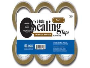 "BAZIC 1.88"""" X 109.3 Yards Tan Packing Tape (6/pack) Case Pack 6"