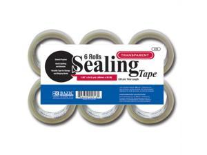"BAZIC 1.88"""" X 54.6 Yards Clear Packing Tape (6/pack) Case Pack 6"