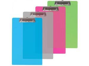 BAZIC Memo Size Plastic Clipboard w/ Low Profile Clip Case Pack 24