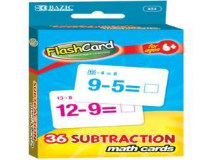 BAZIC Subtraction Flash Cards (36/Pack) Case Pack 24