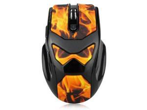 Dealheroes 2.4G Wireless PC Gaming Mouse (Flame)