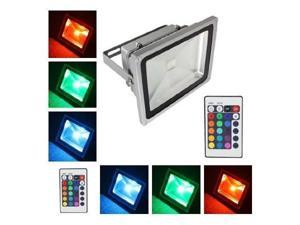 50 Watts Colorful RGB LED Flood Light Landscape Lamp High Power Wall Wash Waterproof Security Outdoor Garden Home Yard Lights With Remote Control