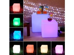 "LOFTEK®Outdoor/Indoor Rechargeable LED Light, Cordless with RGB Colorful Changing Remote Control Changing. (Cube 8"")"