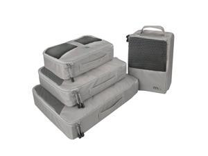 MIU COLOR® 4 Set Packing Cubes - Travel Organizer, 1 Special Shoes Bag, Durable Nylon and Mesh Top with Tote