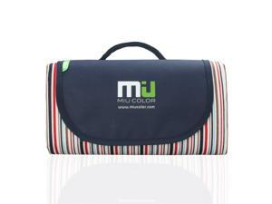 """MIU COLOR® Extra Large 57""""x 79"""" Outdoor Beach Camping Picnic Blanket Mat Handy Tote with Waterproof and Sandproof Backing, Foldable & Easy Carry"""