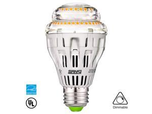 Sansi 125 Watt Equivalent Light Bulbs, Warm White LED Bulb, 3000K 2000lm Dimmable with E26/A19 Base-Energy Star and UL Listed