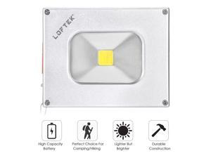 Portable Flood Light - LOFTEK LED Portable Outdoor Floodlight USB Power Bank Waterproof 500lm 4000mAh Rechargeable Battery (Silver)
