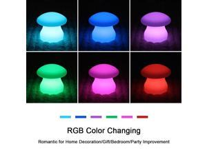 "LOFTEK Night Lights, Outdoor/Indoor Lighting, RGB 16 Color Changing mood light ,Unique,Romantic Mood,Wireless LED Lamp,Frosted Surface,Acrylic Material-(Mushroom 8"")"