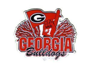 University Of Georgia Bulldogs 2-D Pom Pom Magnet
