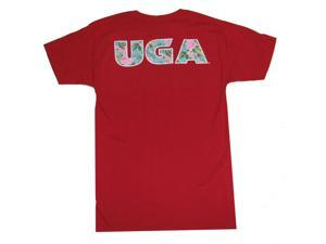 Georgia Bulldogs UGA Floral T-Shirt-large