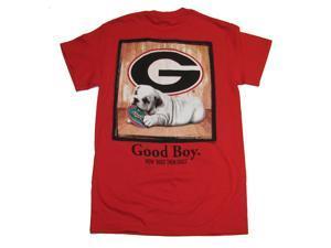 University of Georgia Good Boy Adult SS T-shirt by Weezabi-medium
