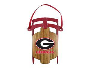 NCAA Georgia Bulldogs Metal Sled Ornament