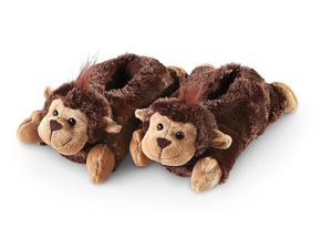 Wishpets Monkey Plush Fuzzy Slippers 12''