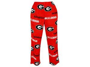 "Georgia Bulldogs NCAA ""Facade"" Men's Micro Fleece Pajama Pants-medium"