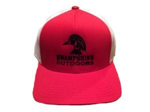 Swampshine Wood Duck Hat-Red/White Mesh