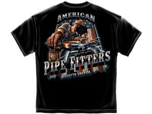 American Pipefitter T-shirt Iron Worker Tee Steel-medium