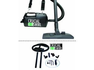 Crucial Swirl Powerful Handheld Portable Vacuum Cleaner&#59; Includes Deluxe Cleaning Attachments & Micro Cleaning Attachment Set&#59; Only 4.5lbs & has Blower Function Too&#59; Perfect for Car detailing!