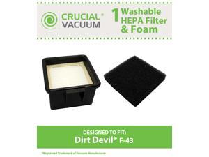 Dirt Devil F43 Foam and Filter Part 2PY1105000, and 1PY1106000.