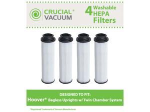 4 Hoover Windtunnel, Empower, Savvy Filters&#59; Washable & Reusable Long-Life HEPA Filter Fits Hoover Windtunnel, Empower, Savvy&#59; Compare to Hoover Part #40140201, 43611042, 42611049, Type 201