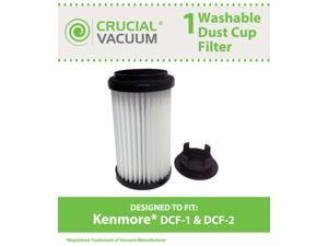 Kenmore DCF-1 DCF-2 Washable & Reusable Long-Life Vacuum Tower Filter&#59; Incudes End-Cap&#59; Replaces Kenmore DCF1 DCF2 Part # 82720, 82912, 02082720000, 02080008000, 02080000000
