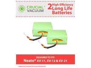 2 Neato Replacement Batteries&#59; XV-11, XV-12, XV-15&#59; Designed & Engineered by Crucial Vacuum