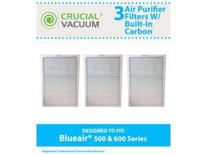 Set of 3 Deluxe 500/600 Series Blueair Air Purifier Filters with Built-In Odor Neutralizing Particle Pre-Filter&#59; Fits Blueair 501, 503, 550E, 601, 603, 650E models and ALL Blueair 500 & 600 Series
