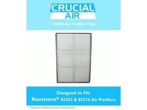 1 HEPA Kenmore Air Purifier Filter&#59; Fits Kenmore models 83200, 83202 (Progressive 335), 83230, 83354, 83355 & 295 Series&#59; Compare to Part # 83375 & 83376&#59; Designed & Engineered by Crucial Air