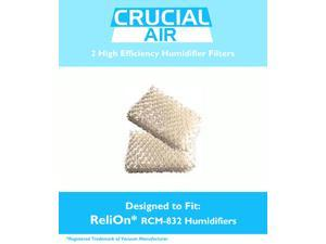 ReliOn WF813 2-Pack Humidifier Wicking Filters Designed To Fit ReliOn RCM832 (RCM-832) RCM-832N, DH-832 and DH-830 Humidifers&#59; Compare To Part # WF813&#59; Designed & Engineered By Crucial Air