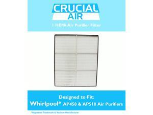 Whirlpool 1183054K (1183054) HEPA Filter Designed To Fit Whispure Air Purifier Models AP450 and AP510 AP45030HO&#59; Compare To Whirlpool Part # 1183054, 1183054K, 1183054K Large, 1183054K Grand Format