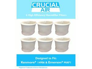 6 Kenmore & Emerson Humidifier Wick Filters&#59; Fits Kenmore 14906 & Emerson MAF1&#59; Compare to Kenmore Part # 42-14906&#59; Designed & Engineered by Crucial Air