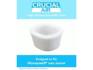 1 Honeywell HAC-504AW Humidifier Filter&#59; Fits Honeywell HCM-350, HCM-600, HCM-710, HCM-300T & HCM-315T&#59; Compare to Part # HAC-504AW&#59; Designed & Engineered by Crucial Air