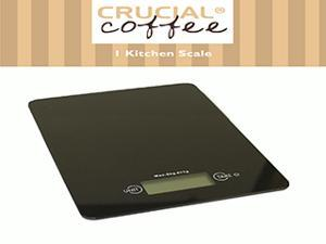 Accurate Slimline Digital Kitchen Scale, Measures: g, kg, lb:oz & oz, Designed & Engineered by Crucial Coffee
